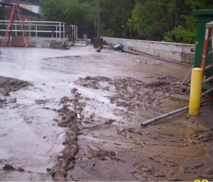 Flooded Water Treatment Facility in Nashville TN Before
